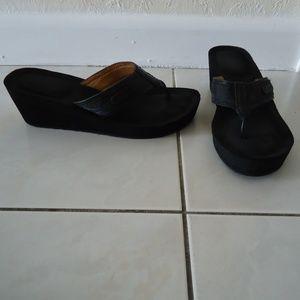 COACH Juliet Jacquard C Wedge Sandal Flip Flop 6B